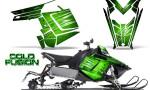 Polaris Rush CreatorX Graphics Kit Cold Fusion Green 150x90 - Polaris PRO RMK RUSH 2011-2014 Graphics