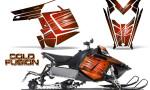 Polaris Rush CreatorX Graphics Kit Cold Fusion Orange 150x90 - Polaris PRO RMK RUSH 2011-2014 Graphics