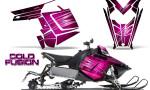 Polaris Rush CreatorX Graphics Kit Cold Fusion Pink 150x90 - Polaris PRO RMK RUSH 2011-2014 Graphics