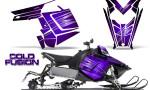 Polaris Rush CreatorX Graphics Kit Cold Fusion Purple 150x90 - Polaris PRO RMK RUSH 2011-2014 Graphics