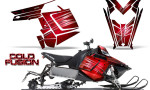 Polaris Rush CreatorX Graphics Kit Cold Fusion Red 150x90 - Polaris PRO RMK RUSH 2011-2014 Graphics