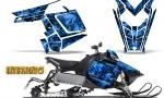 Polaris Rush CreatorX Graphics Kit Inferno Blue 150x90 - Polaris PRO RMK RUSH 2011-2014 Graphics