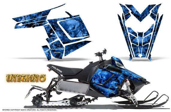 Polaris Rush CreatorX Graphics Kit Inferno Blue 570x376 - Polaris PRO RMK RUSH 2011-2014 Graphics