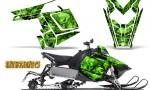 Polaris Rush CreatorX Graphics Kit Inferno Green 150x90 - Polaris PRO RMK RUSH 2011-2014 Graphics