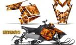Polaris Rush CreatorX Graphics Kit Inferno Orange 150x90 - Polaris PRO RMK RUSH 2011-2014 Graphics