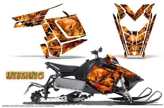 Polaris Rush CreatorX Graphics Kit Inferno Orange 570x376 - Polaris PRO RMK RUSH 2011-2014 Graphics