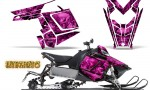 Polaris Rush CreatorX Graphics Kit Inferno Pink 150x90 - Polaris PRO RMK RUSH 2011-2014 Graphics