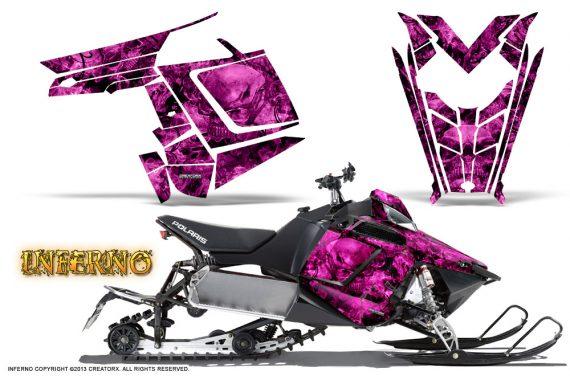 Polaris Rush CreatorX Graphics Kit Inferno Pink 570x376 - Polaris PRO RMK RUSH 2011-2014 Graphics