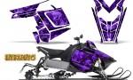 Polaris Rush CreatorX Graphics Kit Inferno Purple 150x90 - Polaris PRO RMK RUSH 2011-2014 Graphics