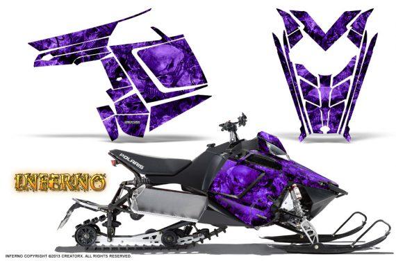 Polaris Rush CreatorX Graphics Kit Inferno Purple 570x376 - Polaris PRO RMK RUSH 2011-2014 Graphics