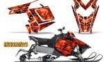 Polaris Rush CreatorX Graphics Kit Inferno Red 150x90 - Polaris PRO RMK RUSH 2011-2014 Graphics