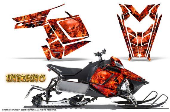 Polaris Rush CreatorX Graphics Kit Inferno Red 570x376 - Polaris PRO RMK RUSH 2011-2014 Graphics