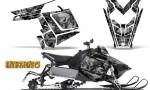 Polaris Rush CreatorX Graphics Kit Inferno Silver 150x90 - Polaris PRO RMK RUSH 2011-2014 Graphics