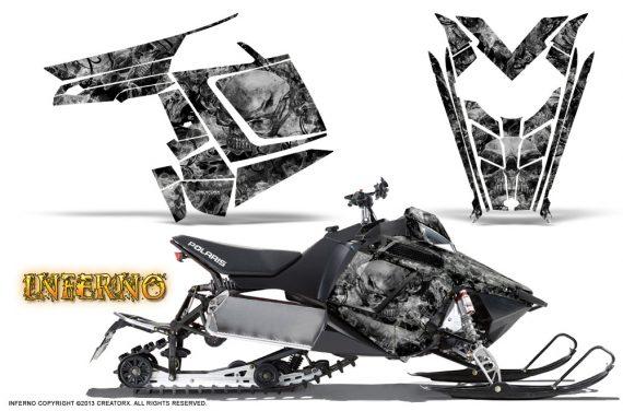 Polaris Rush CreatorX Graphics Kit Inferno Silver 570x376 - Polaris PRO RMK RUSH 2011-2014 Graphics