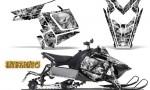 Polaris Rush CreatorX Graphics Kit Inferno White 150x90 - Polaris PRO RMK RUSH 2011-2014 Graphics
