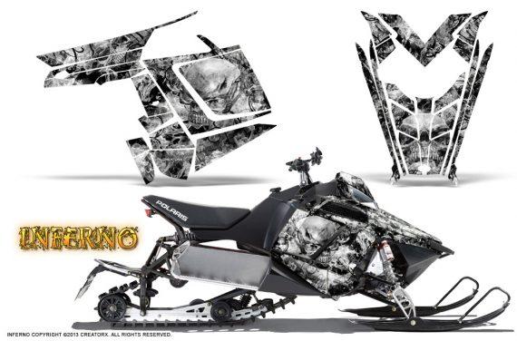 Polaris Rush CreatorX Graphics Kit Inferno White 570x376 - Polaris PRO RMK RUSH 2011-2014 Graphics