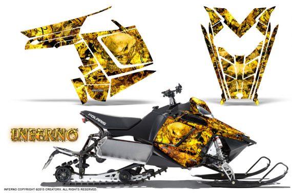 Polaris Rush CreatorX Graphics Kit Inferno Yellow 570x376 - Polaris PRO RMK RUSH 2011-2014 Graphics