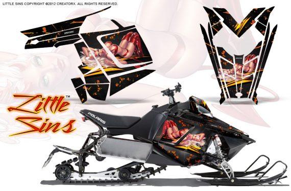 Polaris Rush CreatorX Graphics Kit Little Sins Black 570x376 - Polaris PRO RMK RUSH 2011-2014 Graphics