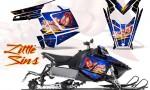 Polaris Rush CreatorX Graphics Kit Little Sins Blue 150x90 - Polaris PRO RMK RUSH 2011-2014 Graphics