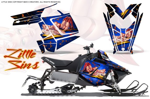 Polaris Rush CreatorX Graphics Kit Little Sins Blue 570x376 - Polaris PRO RMK RUSH 2011-2014 Graphics