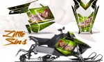 Polaris Rush CreatorX Graphics Kit Little Sins Green 150x90 - Polaris PRO RMK RUSH 2011-2014 Graphics