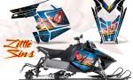 Polaris Rush CreatorX Graphics Kit Little Sins Ice Blue 150x90 - Polaris PRO RMK RUSH 2011-2014 Graphics