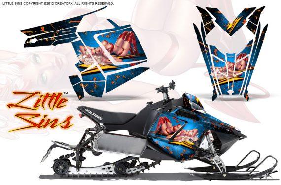 Polaris Rush CreatorX Graphics Kit Little Sins Ice Blue 570x376 - Polaris PRO RMK RUSH 2011-2014 Graphics
