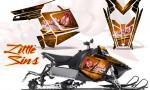 Polaris Rush CreatorX Graphics Kit Little Sins Orange 150x90 - Polaris PRO RMK RUSH 2011-2014 Graphics