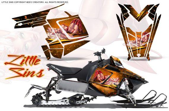 Polaris Rush CreatorX Graphics Kit Little Sins Orange 570x376 - Polaris PRO RMK RUSH 2011-2014 Graphics