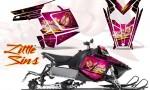 Polaris Rush CreatorX Graphics Kit Little Sins Pink 150x90 - Polaris PRO RMK RUSH 2011-2014 Graphics