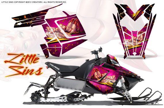 Polaris Rush CreatorX Graphics Kit Little Sins Pink 570x376 - Polaris PRO RMK RUSH 2011-2014 Graphics