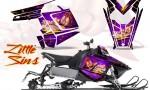 Polaris Rush CreatorX Graphics Kit Little Sins Purple 150x90 - Polaris PRO RMK RUSH 2011-2014 Graphics