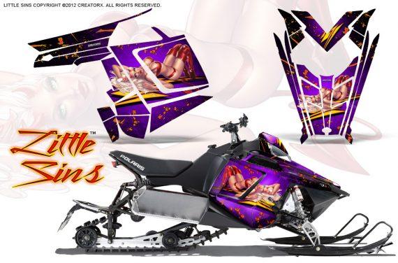 Polaris Rush CreatorX Graphics Kit Little Sins Purple 570x376 - Polaris PRO RMK RUSH 2011-2014 Graphics