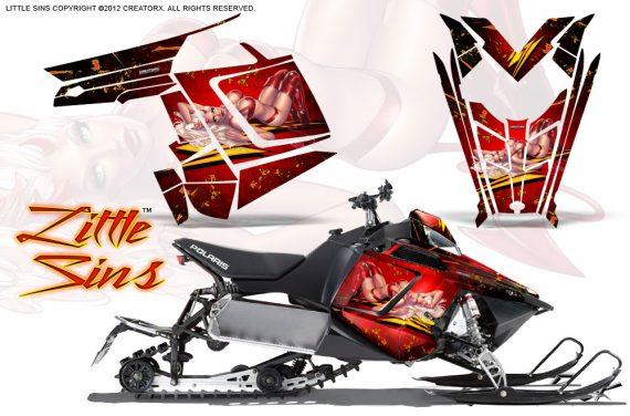 Polaris Rush CreatorX Graphics Kit Little Sins Red 570x376 - Polaris PRO RMK RUSH 2011-2014 Graphics