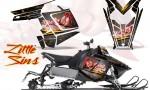 Polaris Rush CreatorX Graphics Kit Little Sins Silver 150x90 - Polaris PRO RMK RUSH 2011-2014 Graphics