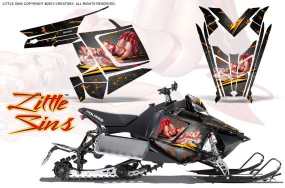Polaris Rush CreatorX Graphics Kit Little Sins Silver 570x376 - Polaris PRO RMK RUSH 2011-2014 Graphics
