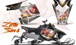 Polaris Rush CreatorX Graphics Kit Little Sins White 150x90 - Polaris PRO RMK RUSH 2011-2014 Graphics