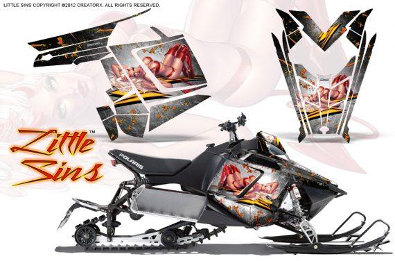 Polaris Rush CreatorX Graphics Kit Little Sins White 570x376 - Polaris PRO RMK RUSH 2011-2014 Graphics