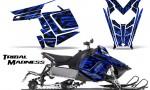 Polaris Rush CreatorX Graphics Kit Tribal Madness Blue 150x90 - Polaris PRO RMK RUSH 2011-2014 Graphics