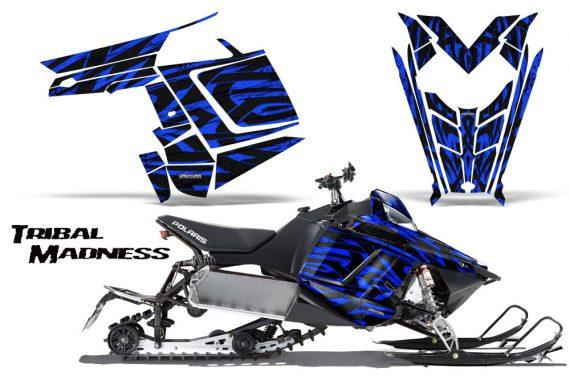 Polaris Rush CreatorX Graphics Kit Tribal Madness Blue 570x376 - Polaris PRO RMK RUSH 2011-2014 Graphics