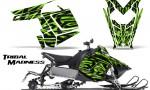 Polaris Rush CreatorX Graphics Kit Tribal Madness Green 150x90 - Polaris PRO RMK RUSH 2011-2014 Graphics