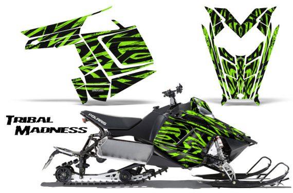 Polaris Rush CreatorX Graphics Kit Tribal Madness Green 570x376 - Polaris PRO RMK RUSH 2011-2014 Graphics