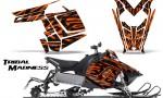 Polaris Rush CreatorX Graphics Kit Tribal Madness Orange 150x90 - Polaris PRO RMK RUSH 2011-2014 Graphics