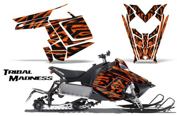 Polaris Rush CreatorX Graphics Kit Tribal Madness Orange 570x376 - Polaris PRO RMK RUSH 2011-2014 Graphics