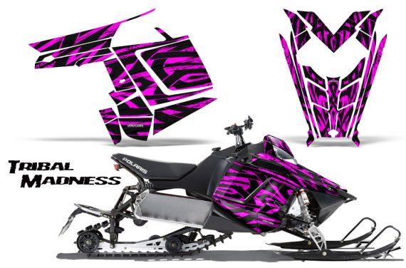 Polaris Rush CreatorX Graphics Kit Tribal Madness Pink 570x376 - Polaris PRO RMK RUSH 2011-2014 Graphics