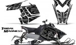 Polaris Rush CreatorX Graphics Kit Tribal Madness Silver 150x90 - Polaris PRO RMK RUSH 2011-2014 Graphics
