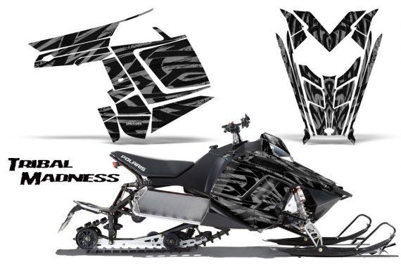 Polaris Rush CreatorX Graphics Kit Tribal Madness Silver 570x376 - Polaris PRO RMK RUSH 2011-2014 Graphics