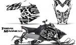 Polaris Rush CreatorX Graphics Kit Tribal Madness White BB 150x90 - Polaris PRO RMK RUSH 2011-2014 Graphics