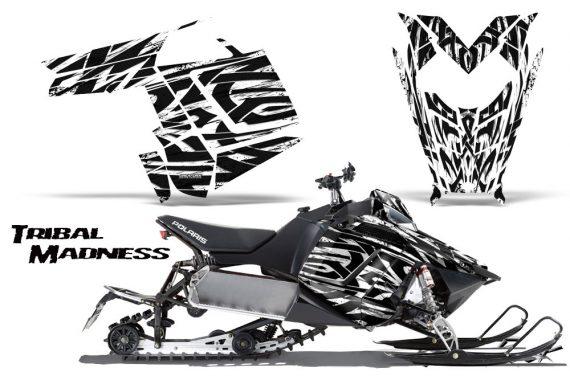 Polaris Rush CreatorX Graphics Kit Tribal Madness White BB 570x376 - Polaris PRO RMK RUSH 2011-2014 Graphics