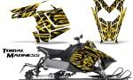 Polaris Rush CreatorX Graphics Kit Tribal Madness Yellow 150x90 - Polaris PRO RMK RUSH 2011-2014 Graphics